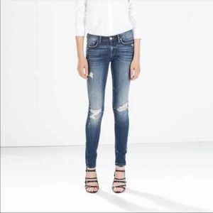 Zara skinny jeans ripped size 32
